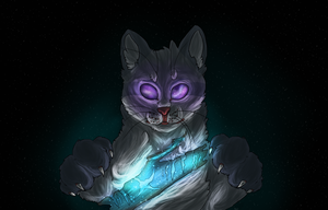 holding the stars in his paws [speedpaint] by lucifers-roomate