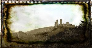 corfe castle by awjay