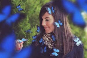 butterfly blue by Bucikah
