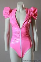 Chrisst Fetish Bodysuit PVC Hot Pink Cosplay by auxcentral