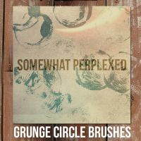 Grunge Circle Brushes by somewhat-perplexed