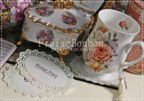 gorgeous paper lace doilies - Happy Time by Fraise-Bonbon
