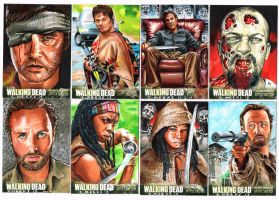 Official Cryptozoic Walking Dead sketch cards by Kapow2003