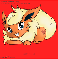 Updated Flareon Journal Skin by AbyssinChaos