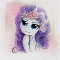 Rarity Flower Glamour Shot by Hewison
