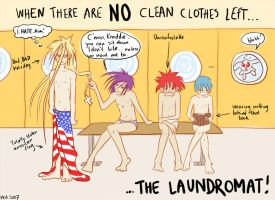 At the laundromat by ihni