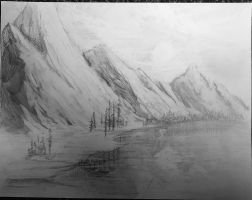 MountainScape (English Class Doodle) by samareye987