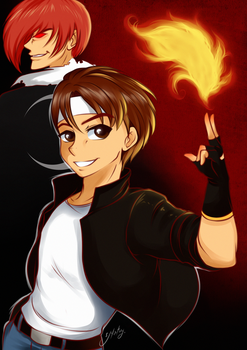King of fighters by Naty-Ilustrada