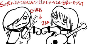 Guitarists bro-fist like a sir... by kitty4699