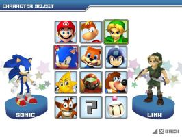 SSB2 Character list by Sakis25