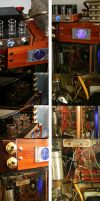 Steampunk Immersion PC Detail by SpamDragon