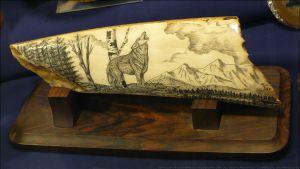 Scrimshaw Wolf by Undistilled