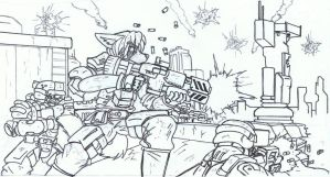 Assault : uncolored by Steel123