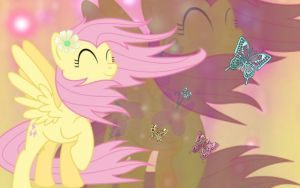 Fluttershy wallpaper by fluffymoonpony