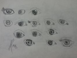 Eyes drawing (practice 2) by surimix