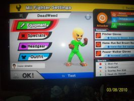 Deadweed in Super smash bros by sinako777
