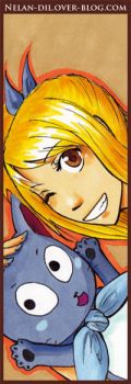 Happy and Lucy Bookmark by Nelan-Dil