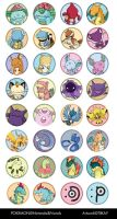 Pokemon Buttons - Batch 2 by tiikay