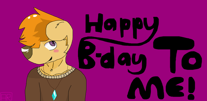 Happy b-day to me by Anskuruu