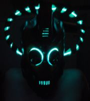 Steampunk Cybermen Mask Glow by Epic-Leather