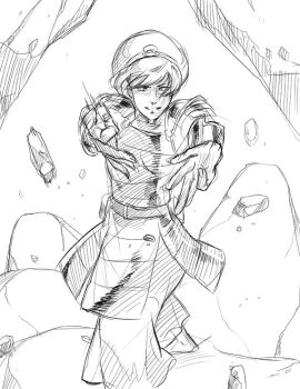 Toph Sketch by Roggles