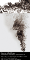 Black smoke - Stock image and transparent png by RichardGeorgeDavis
