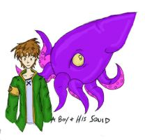 Boy and his Squid by Rabid-Turtle