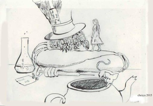 Alice and the  Mad Hitters Tea Party by chesya