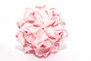 kusudama little roses by leezarainboeveins