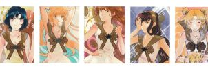 Sailormoon ACEO Set by Toffi-Fee