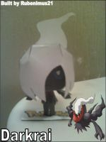 Chibi Darkrai Papercraft Finished by rubenimus21