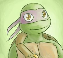 TMNT: Happy Donnie by Succubii