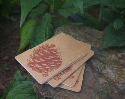 Little Pine Cone Notebook by mouse2cat