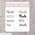 Fonts! :3 by nicolelastar