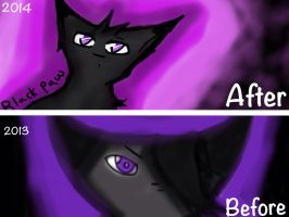 Blackpaw Before and After by Theoddandstrange