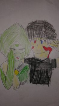 me and peridot by darkwing200218