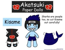Kisame Paper Doll by Malindachan