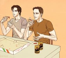 Neal + Peter by beautiful-burnout