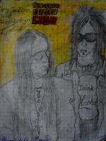 wednesday13 and  joey jordison by deathswife666