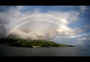 Rainbow over Tortola, B.V.I. by BillyRWebb