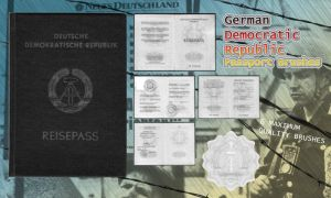 GDR Passport Brushes by Fufnahad