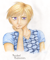 Xalen, in Coloured Pencil by Resident-Bishounen