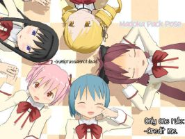 [Puella Magi Madoka Magica] Pose Pack Download by GumiPrussiaIsNotDead