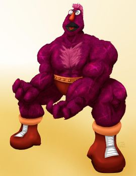 Sesame Street Fight: Zellygief by gavacho13