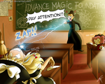 Commission- Witch Academy by ClaraKerber