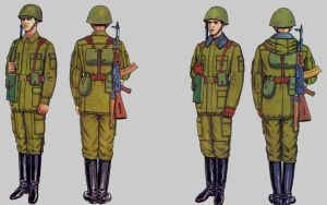 Soviet Army Uniforms 54 by Peterhoff3