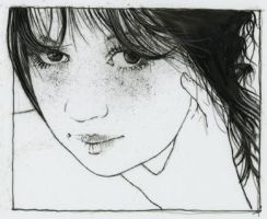 pen drawing stacey by derekjones