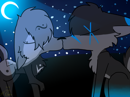 :GA: Kissin in the moonlight by P00NIS-IS-LOVE