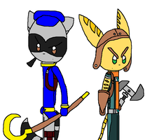 CG: Sly Cooper and Ratchet by angelthewingedcat