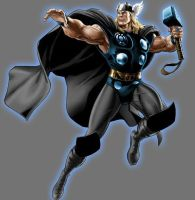 Blue Lantern Thor by Lord-Lycan